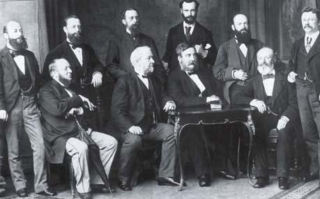 Leitungsebene einer Firma um 1884
