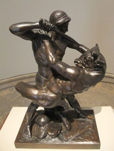 Theseus_Slaying_Minotaur_by_Barye-1877