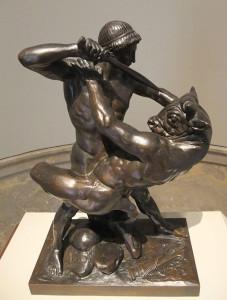 Theseus_Slaying_Minotaur_by_Barye-1877
